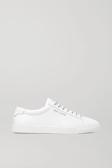 SAINT LAURENT | SAINT LAURENT - Andy Leather Sneakers - White | Goxip