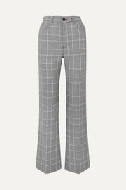 See By Chloé Prince of Wales checked tweed bootcut pants
