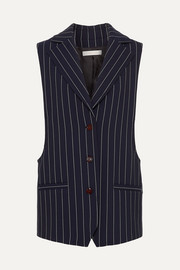 See By Chloé Oversized pinstriped cady vest