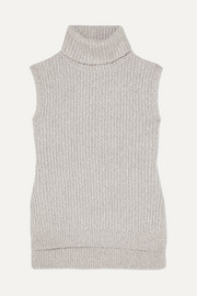 See By Chloé Mélange ribbed-knit turtleneck sweater