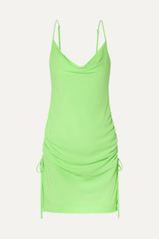 STAUD Tarte ruched crepe mini dress