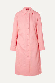 STAUD Maura shell trench coat