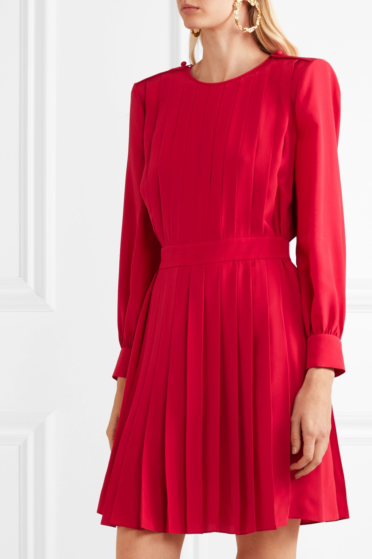 Fendi Pleated silk crepe de chine dress