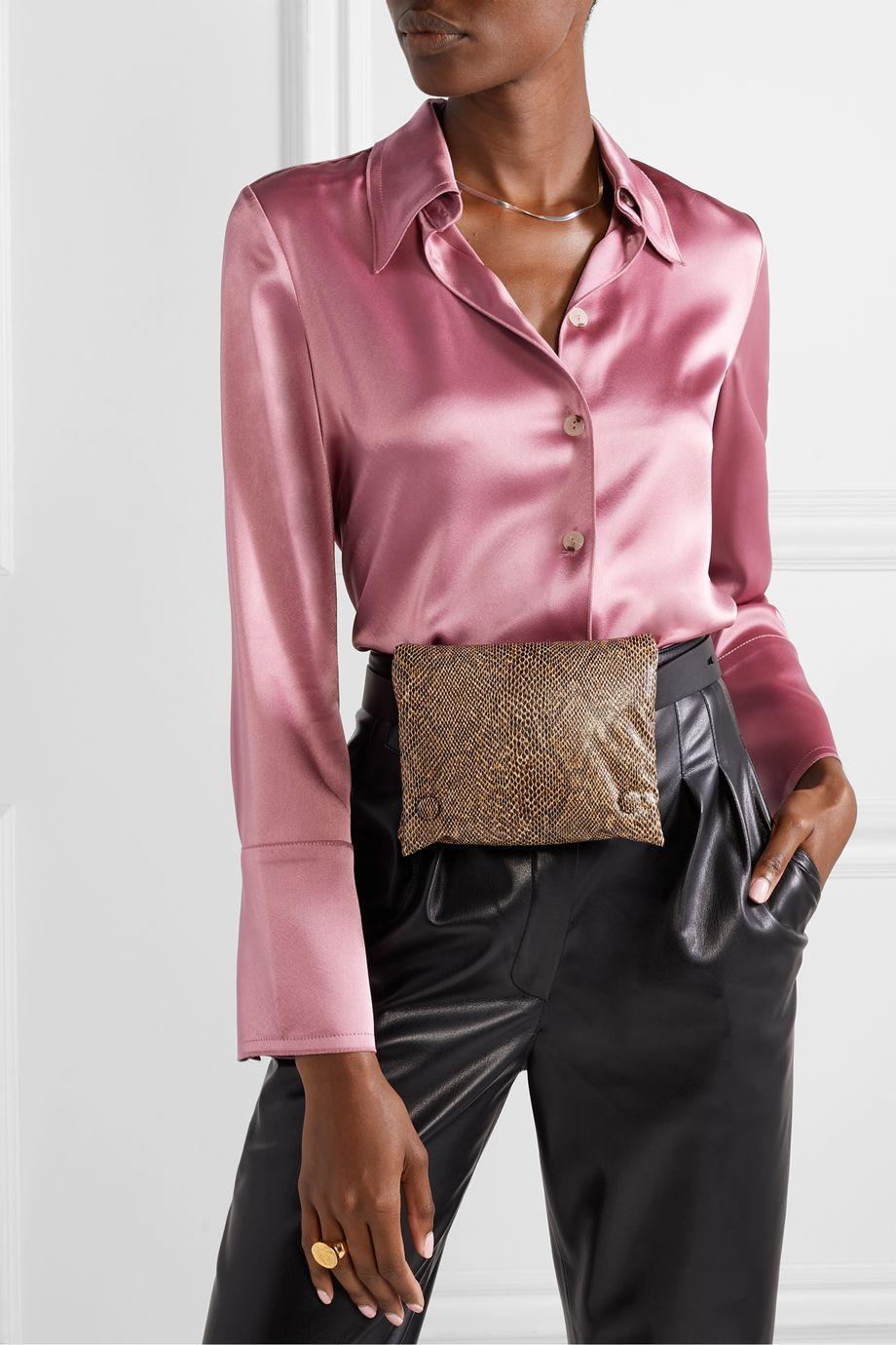 Nanushka Tao snake-effect vegan leather belt bag