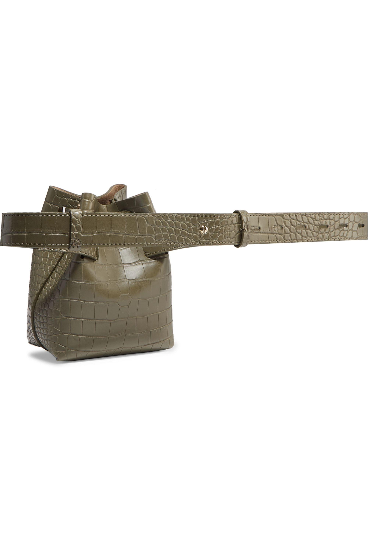 Nanushka Minee croc-effect faux leather belt bag