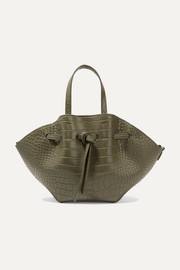 Lynne mini croc-effect faux leather tote
