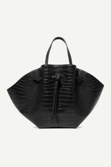 Lynne Croc Effect Faux Leather Tote by Nanushka