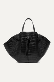 Lynne croc-effect faux leather tote