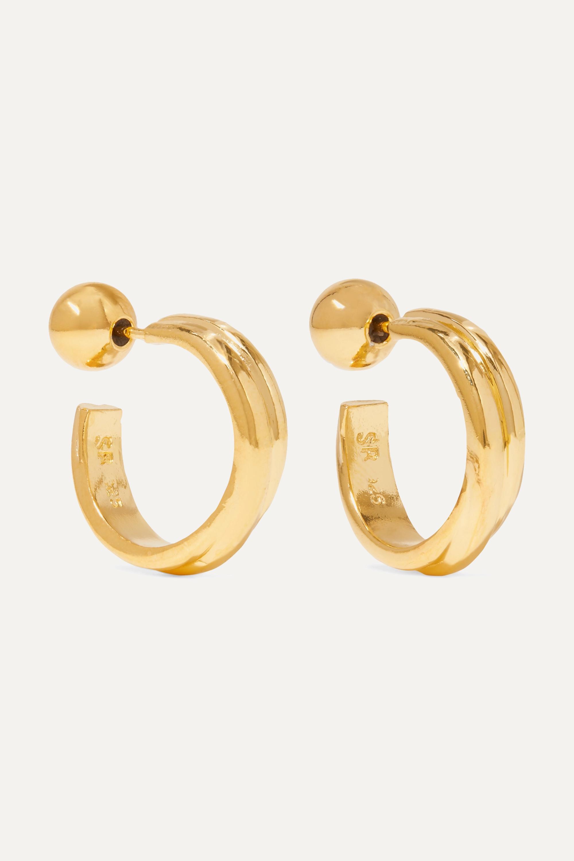 Sophie Buhai Gold vermeil hoop earrings