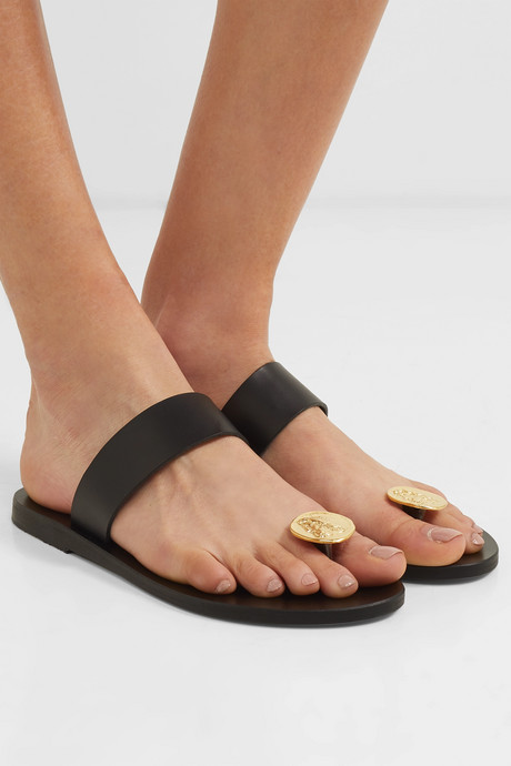 Thalia Coin leather sandals