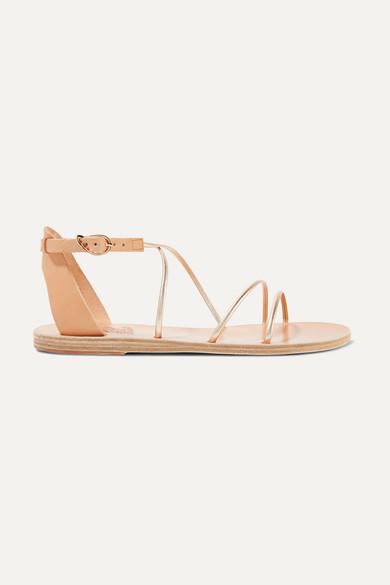 Ancient Greek Sandals Sandals Meloivia metallic leather sandals