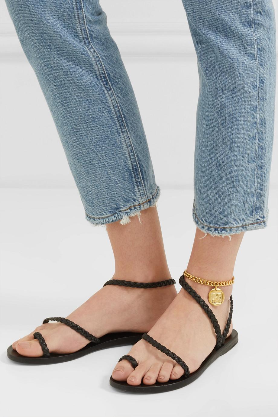 Ancient Greek Sandals Owl 金色脚链