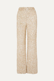 Retrofête Hope sequined chiffon wide-leg pants