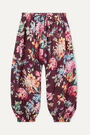 Zimmermann Kids Allia floral-print cotton-voile pants