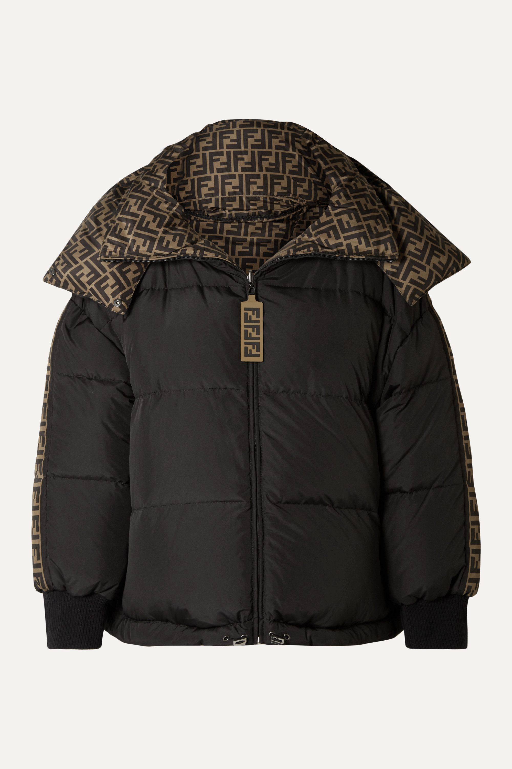 Fendi Reversible quilted printed shell down jacket