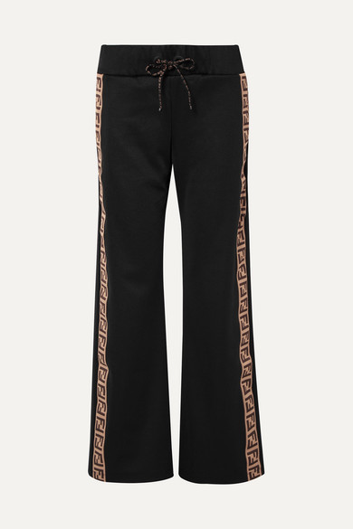 19b81301bf52 Fendirama jacquard-trimmed satin-jersey track pants
