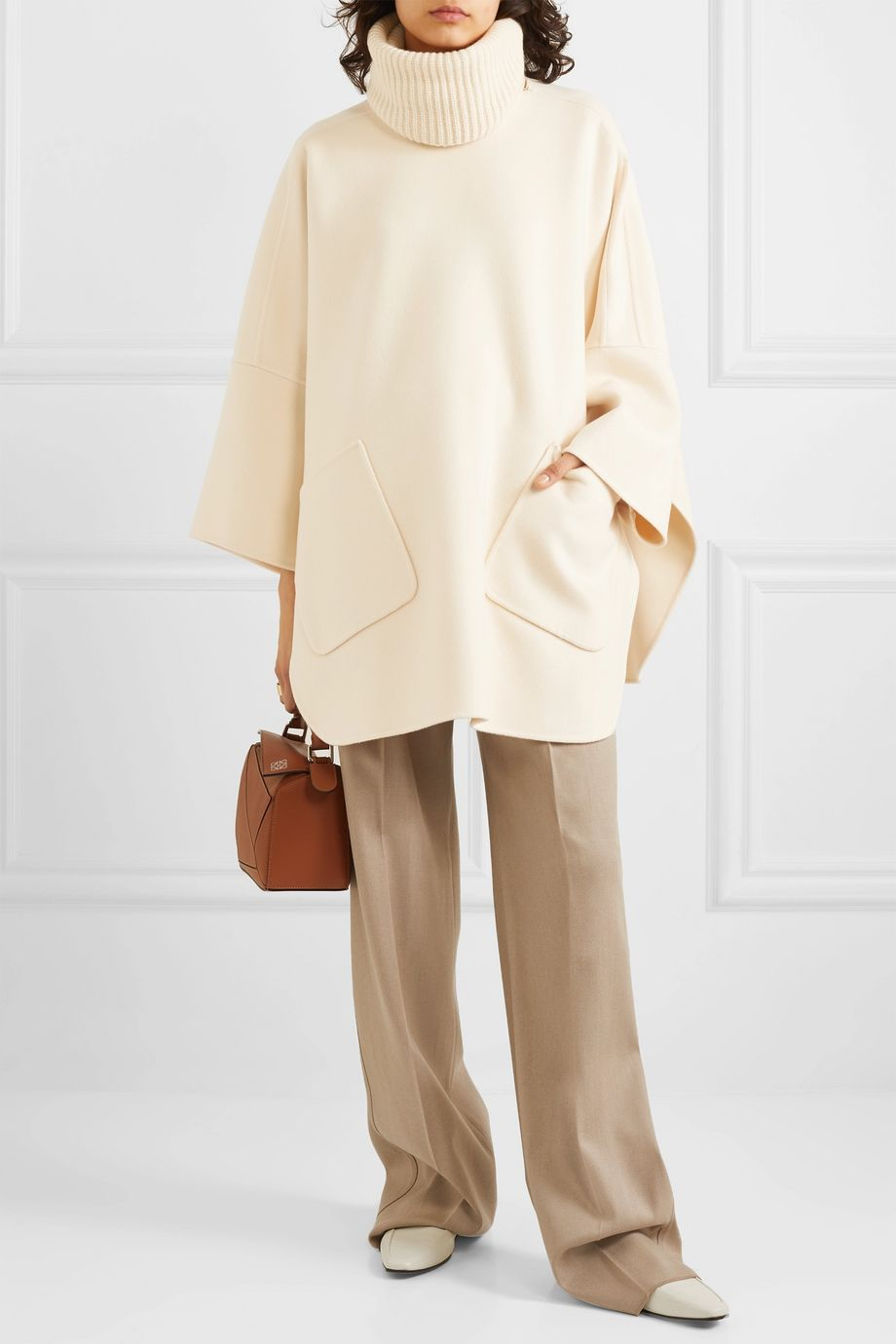 Loro Piana Convertible cashmere turtleneck cape