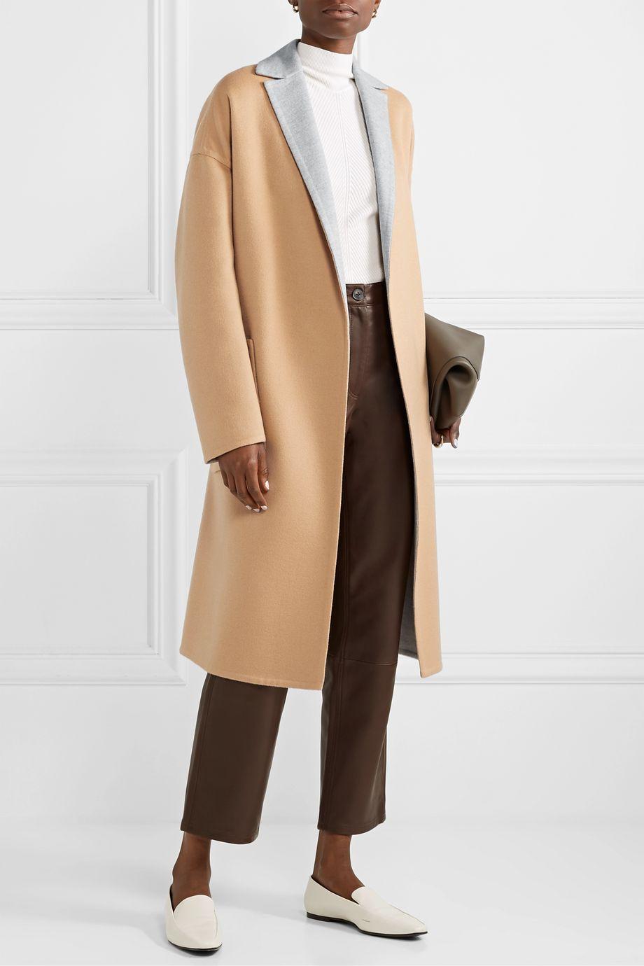 Loro Piana Reversible belted cashmere coat