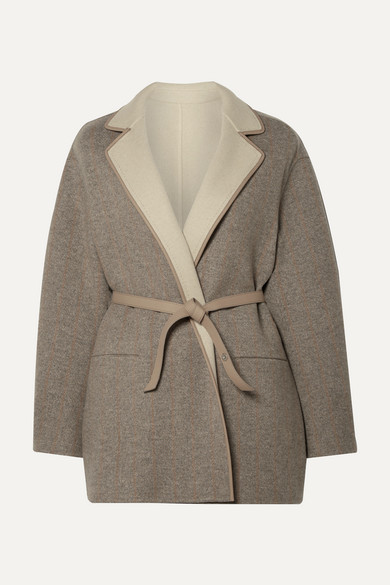 Reversible Leather Trimmed Cashmere Jacket by Loro Piana