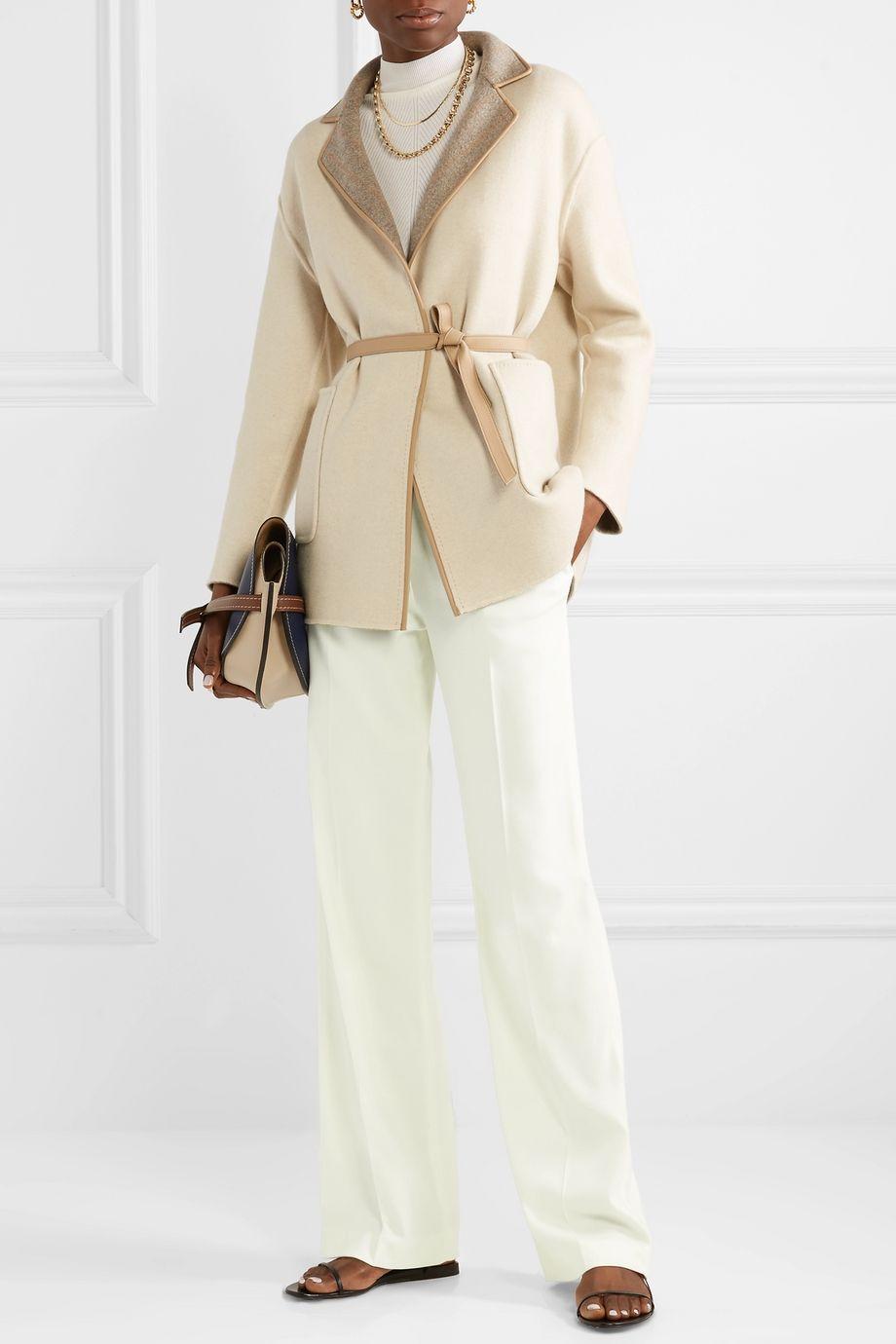 Loro Piana Cashmere-blend wide-leg pants