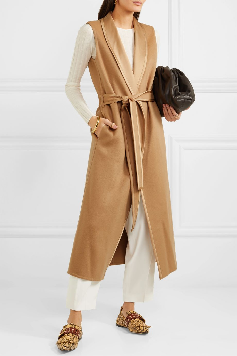 Loro Piana Belted cashmere coat