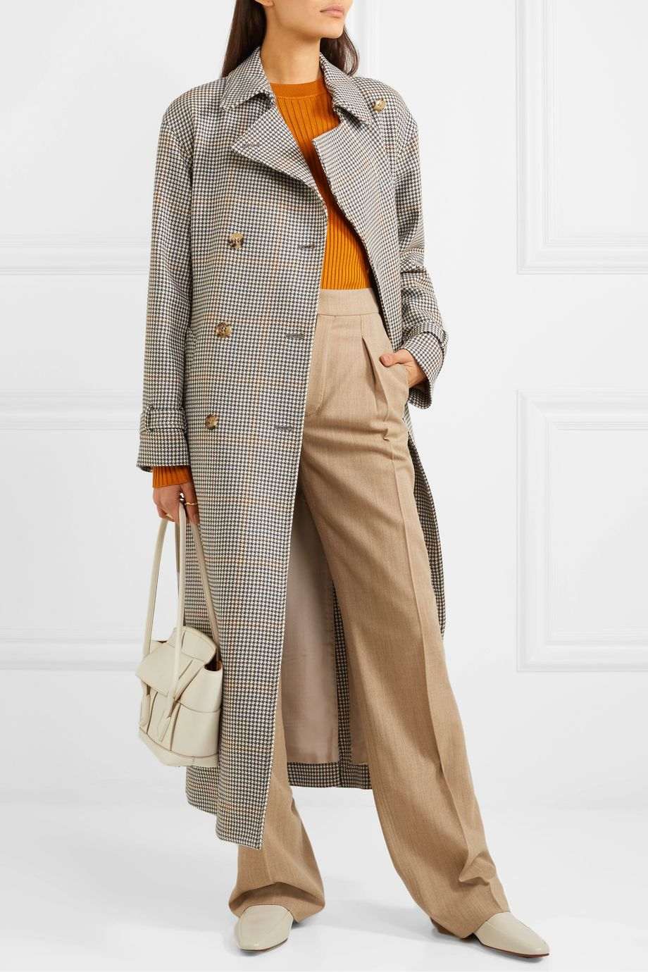 Loro Piana Houndstooth wool trench coat
