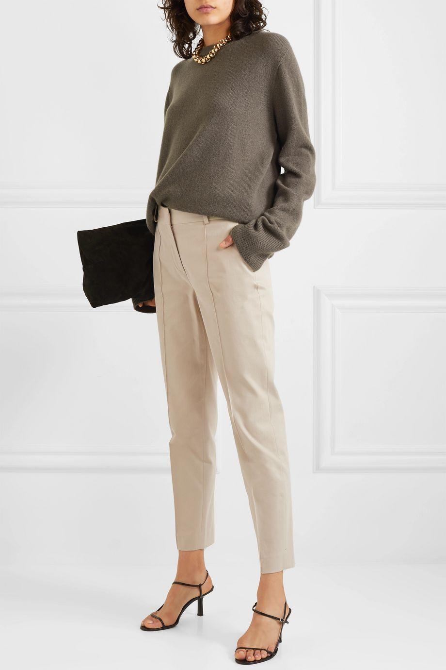 Loro Piana Cotton-twill slim-leg pants
