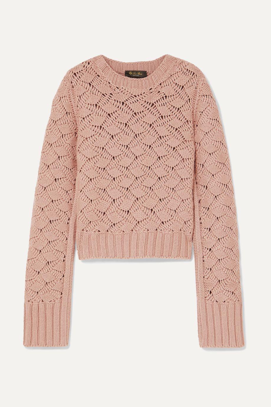Loro Piana Cable-knit cashmere sweater