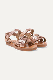 Size 23 - 34 Little Electra metallic leather sandals