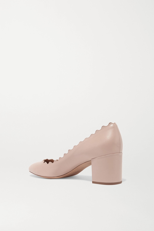 Chloé Lauren scalloped leather pumps