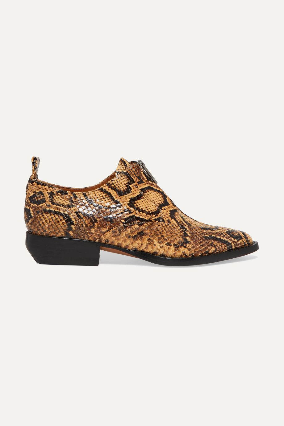 Chloé Rylee snake-effect leather brogues