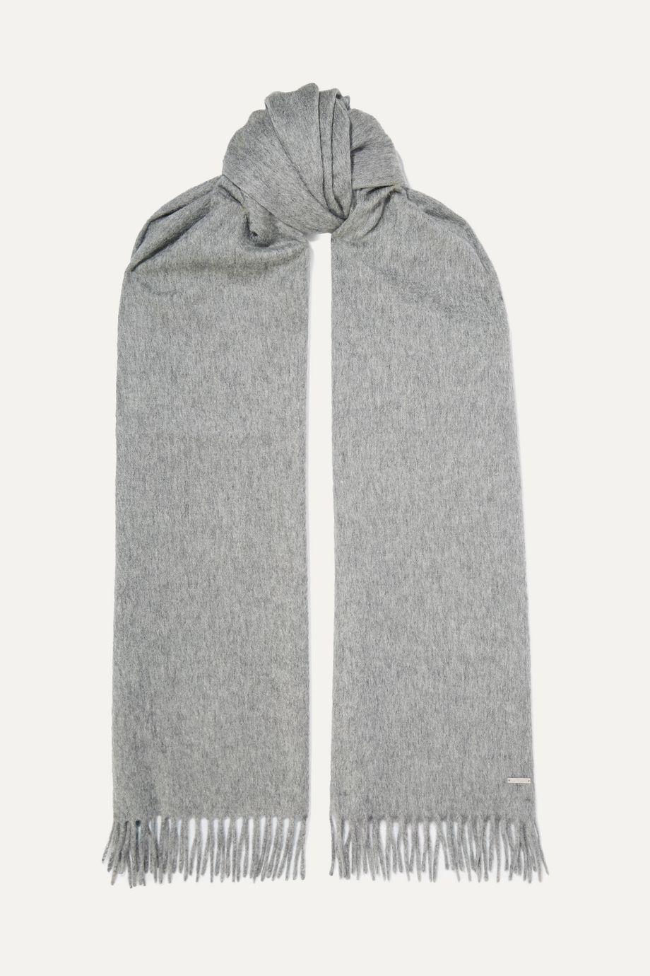 Loro Piana Grande Unita fringed cashmere scarf