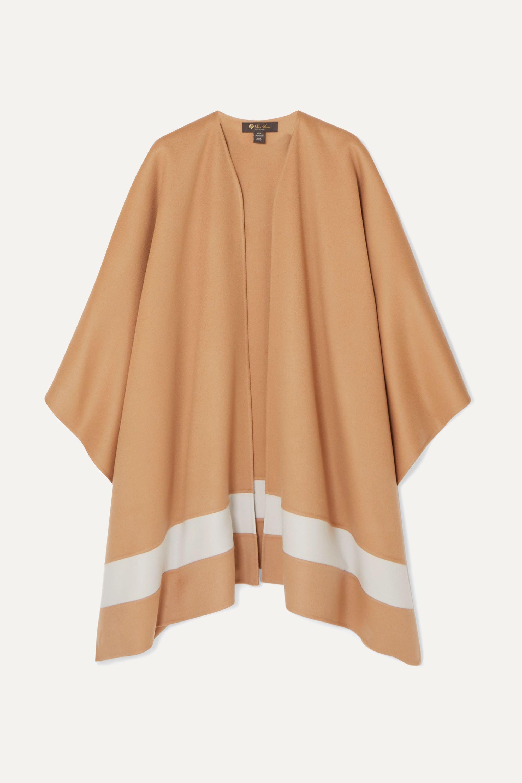 Loro Piana Striped cashmere poncho