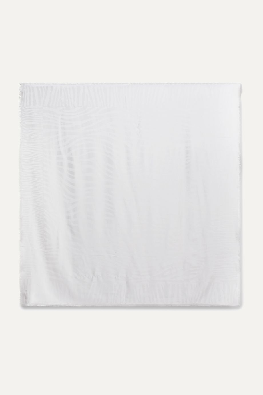 Loro Piana Fringed silk-jacquard scarf