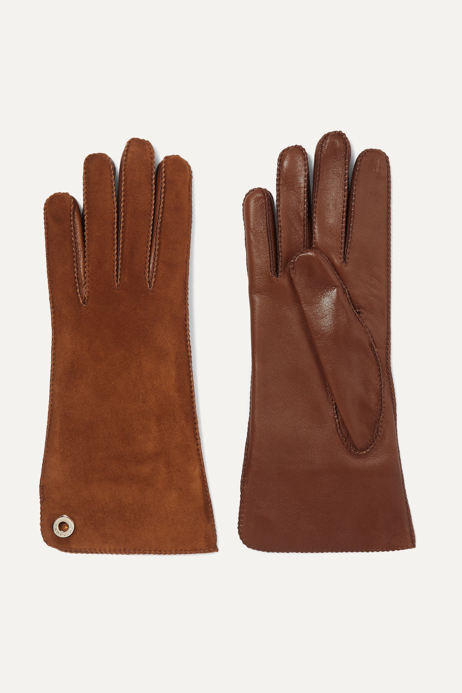 Loro Piana Leather and suede gloves