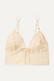 Dawn pointelle-knit soft-cup bralette