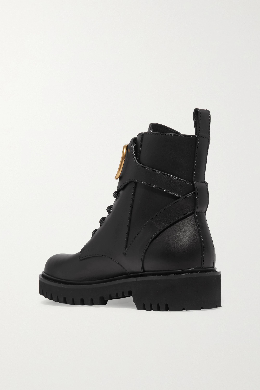 Valentino Valentino Garavani Go Logo embellished leather ankle boots