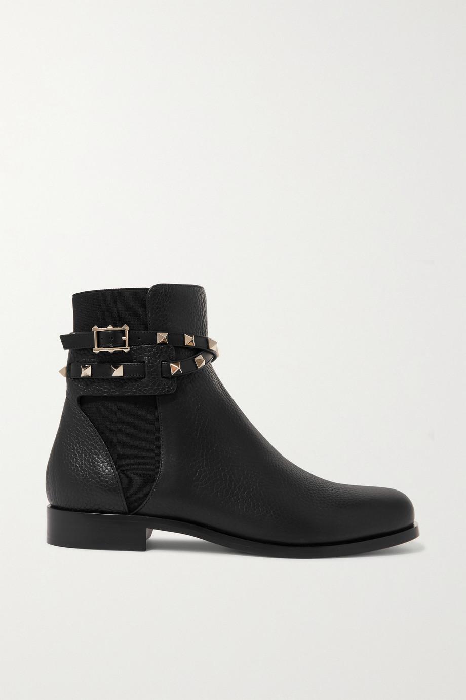 Valentino Valentino Garavani Rockstud Chelsea Boots aus strukturiertem Leder