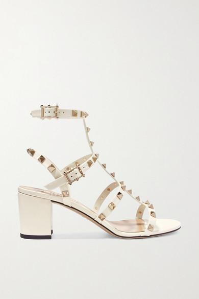 8d30daf4d19 Valentino Garavani The Rockstud 60 patent-leather sandals
