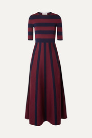Gabriela Hearst Capote striped merino wool and cashmere-blend maxi dress