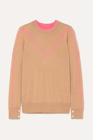 Intarsia Merino Wool Sweater by Adam Lippes