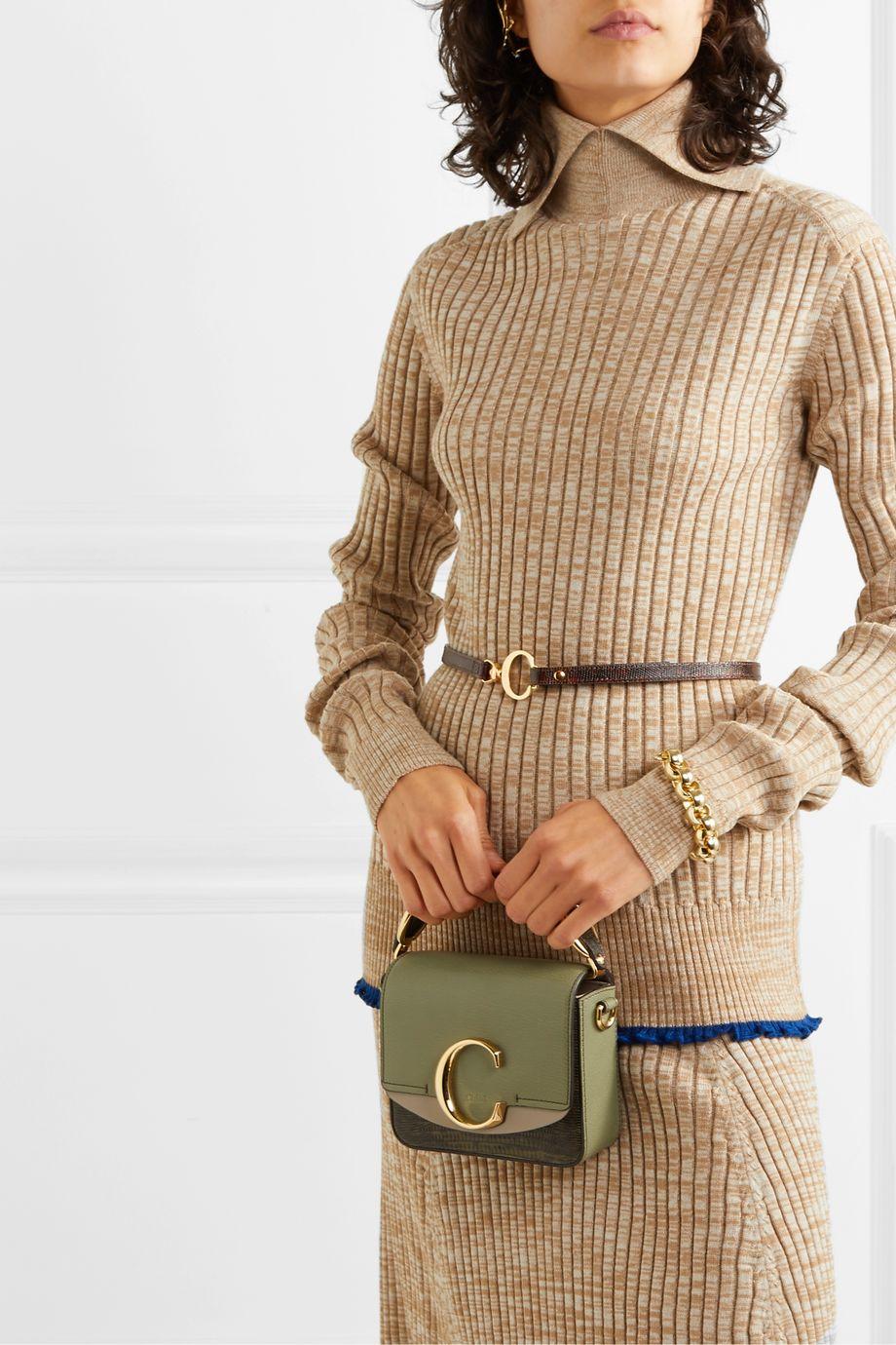 Chloé Lizard-effect leather belt