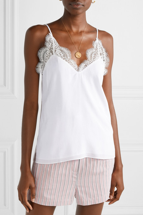 The Marisol lace-trimmed gauze camisole