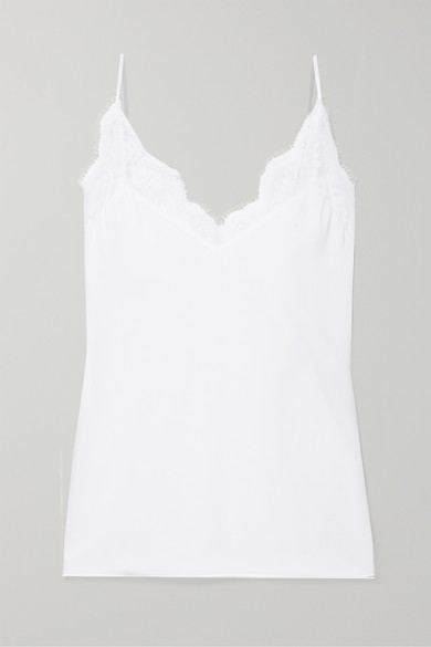 The Marisol Lace Trimmed Gauze Camisole by Cami Nyc