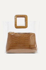 STAUD Shirley croc-effect leather and PVC tote