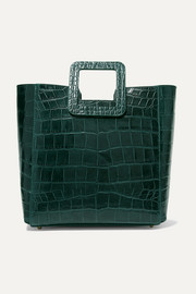 Shirley croc-effect leather tote