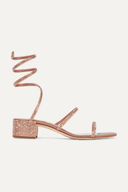 Cleo crystal-embellished satin sandals