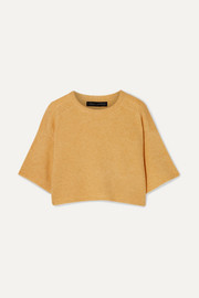 Sally LaPointe Cropped cashmere and silk-blend sweater