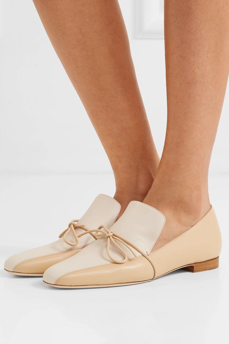 Malone Souliers + Roksanda Marlene Celia two-tone leather loafers