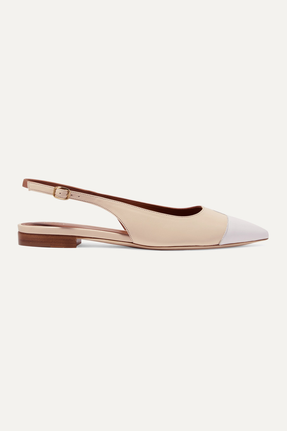 Malone Souliers Bianca color-block leather slingback point-toe flats